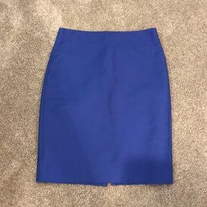 J. Crew No. Pencil skirt royal blue